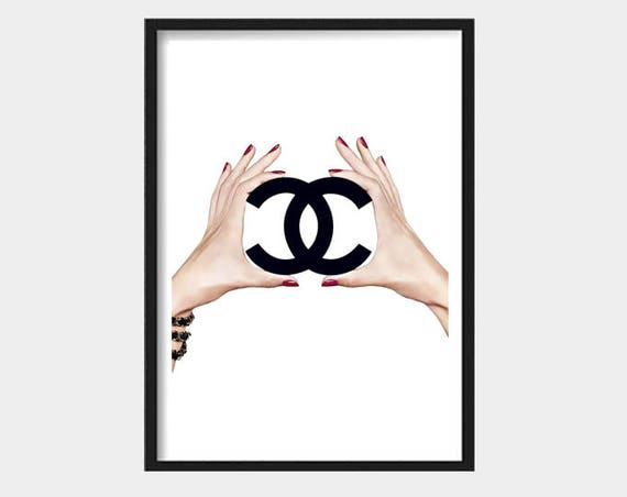 Fashion Wall Art, Fashion prints, Chanel poster, Chanel printable, Chanel art, Fashion Poster, Modern Art, Digital Prints, Fashion Logo, art