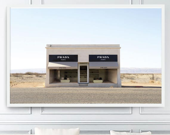 Prada Marfa Print, Prada Marfa, Fashion Wall Art, Fashion Poster, Prada Marfa Photo, Fashion, Prints, Art, Wall Art, Texas, Art Prints