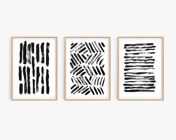 Digital Download Printable Large Scale Wall Art Retro Minimalism Wall D\u00e9cor Print 36 x 24 Scalable Files