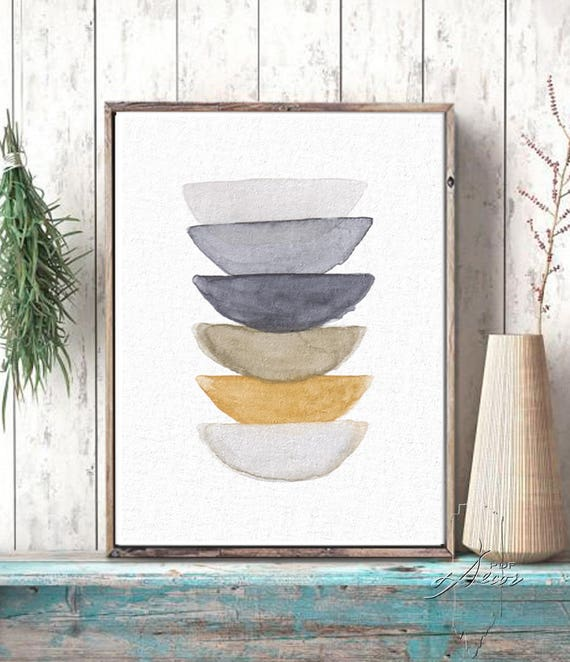 Rustic  Wall Decor, Watercolor Art Print, Watercolor, Abstract Print, Minimal Wall Art, Natural Color Art, Wall Art Prints, Minimalist art