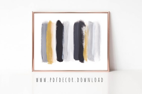 Abstract Print, Abstract Printable, Brushstroke Print, Home Office Decor, Brushstroke Printable, Home Office Art, Abstract, Modern Art, Art