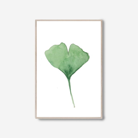 Ginkgo Print, Eucalyptus leaves, Watercolor Leaves, Minimalist Print, Minimalist Wall Art, Tropical print, Botanical Print, Greenery