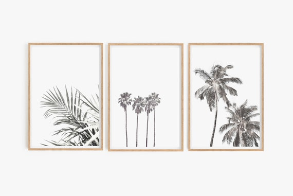 Set of 3 Prints,Prints,Wall Art,Wall Decor,Digital Download,Home Decor,Large Wall Art,Beach Decor,Palm Trees Print,Set of Prints,Art Prints