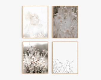 Set of 4 Prints,Prints,Boho Prints,Farmhouse prints,Bohemian,Natural Tones,4 wall art,Boho Decor,Nature prints, Botanical prints,Wall Art