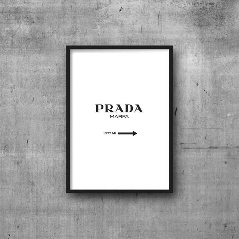 d8ea658dc76fc Prada Poster, Prada Marfa Art, Art Print, Fashion Art, Prada Marfa, Black  White Fashion, Poster, Art Prints, Fashion Poster, Fashion Print