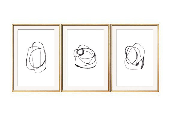 Set of 3 Black Wall Art, Set of 3 Prints, Modern Art Prints, Black Wall Art, Se of 3 Wall Art, Contemporary Art, Abstract Prints, Prints
