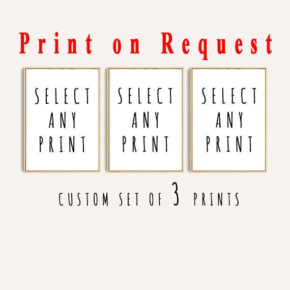 Set of 3  Physical Prints, Order on demand, Set of 3 Wall Art, Wall art, Modern Art, Watercolor Set, Wall Art, Physical
