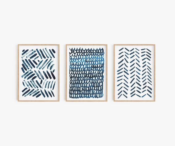 Set of 3 printable art, Blue White Set Prints, Abstract Wall Art, Set of 3 Abstract Art, Set of 3 Prints, Blue White Printable, Abstract Art