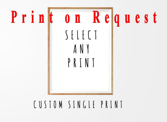 A Single Physical Prints, Print on demand, Wall Art, Single Wall art, Single, Modern Art, Art Print, Watercolor, Print