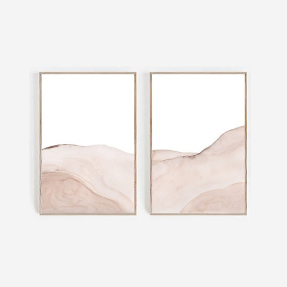 Beige  Set of 2 prints, Beige Brown Home Decor, Living Room Wall,Minimalist Prints,Beige Prints,Set of 2 abstract art, Boho Decor, Art Print
