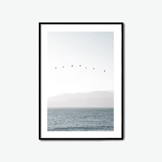 Ocean Print, Ocean Printable, Sea Printable, Water Print, Beach print, Ocean Poster, Blue Print, Blue Poster, Beach Poster, Large Poster
