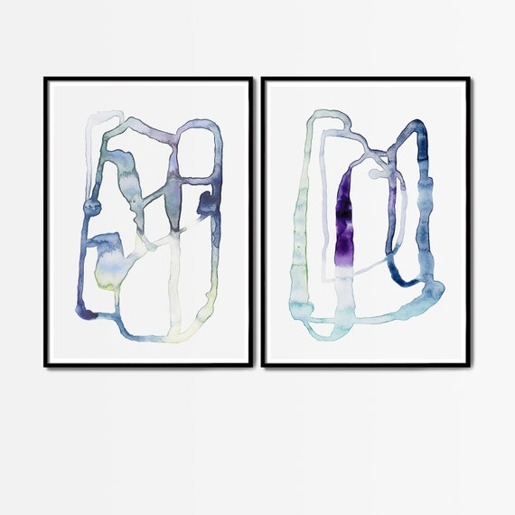 Set of 2 Art Prints, Set of 2 Abstract Prints, Set of 2 Prints, Set of 2 Wall Art, Minimalist Art, Modern Minimalist Print, Abstract Art