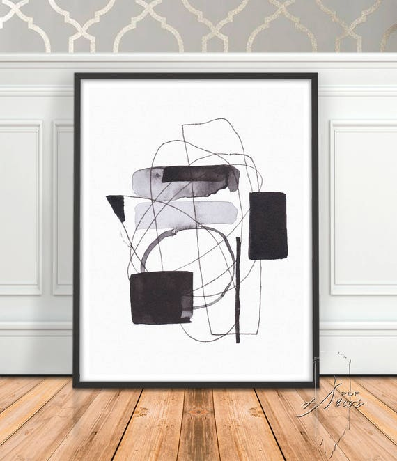 Black White Modern Art, Art, Minimalist print, Abstract art, Minimalist Art, Printable Art, Black White Print, Abstract Print, Modern Decor
