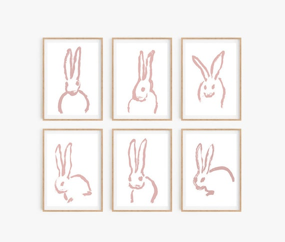 Set of 6 Nursery Prints, Set of 6 Wall Art, Set of 6 Nursery Art, Nursery Print, Baby Room Decor, Animals Print, Nursery Wall Decor, Prints