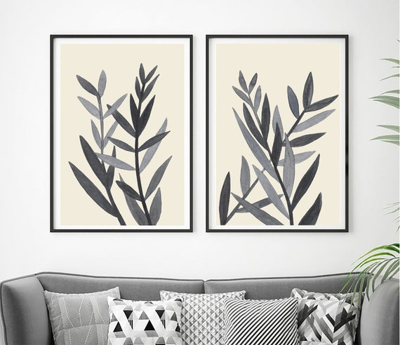 Botanical Set of Prints, Set of 2 Prints, Minimalist Art, Home Decor, Set of 2 Wall Art, Modern Art, Digital Prints, Set of Prints, Prints