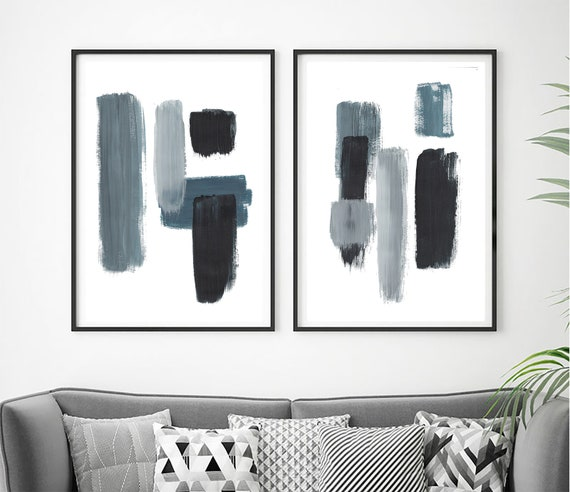 Set of 2 minimalist prints, Set of 2 prints, Set of 2 Wall Art, Set of 2, Abstract Art, wall Art, Blue  Print, Set of 2 Abstract Prints, Art