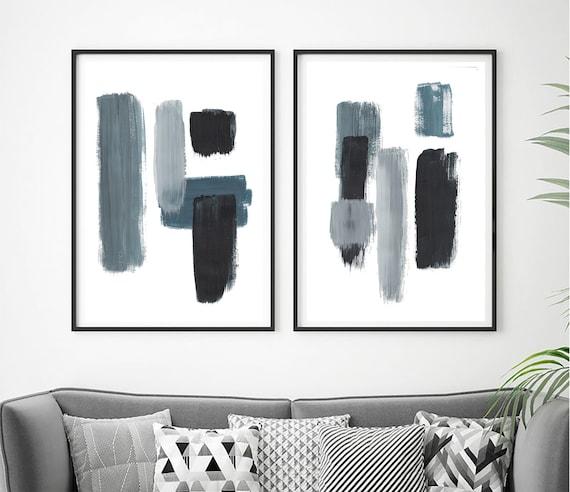 Set of 2 minimalist prints, Set of 2 prints, Set of 2 Wall Art, Set of 2, Abstract Art, wall Art, Blue  Print, Set of 2 Abstract Prints, Art