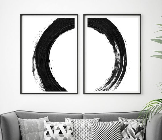 Set of 2 Black White Prints, Set of 2 Minimalist, Set of 2 Wall Art, Black White Printable, Set of 2 Prints, Black White Print, Home Decor