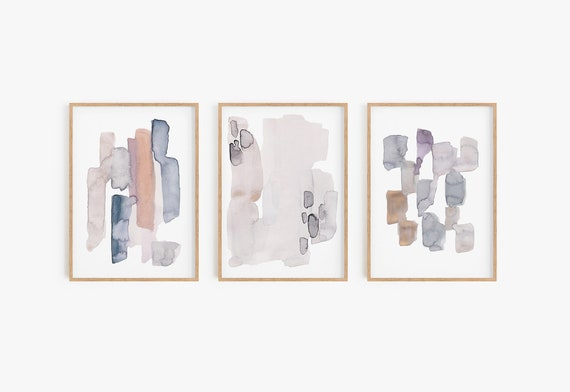 Boho art prints, Boho wall decor, Boho wall art Set of 3 watercolour prints Set of 3 Wall Art Abstract Prints Home Decor Modern Decor