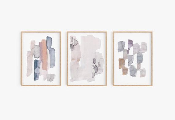 Boho art prints, Boho wall decor, Boho wall art Set of 3 watercolour prints Set of 3 Wall Art Abstract Prints Home Decor Modern Decor