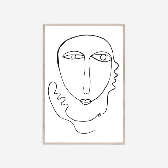 Silhouette Poster, Silhouette Print, Wall Art, Modern Minimalist Art, Black White Art, Art Print, Minimalist Art, Silhouette Art, Abstract
