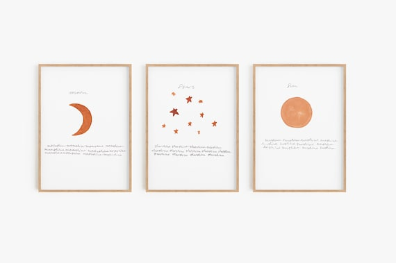 Set of 3 Boho Prints,Boho Decor,Sun Moon Stars,Boho Prints,Set of 3,Printable Art,Watercolour, Minimalist Art,Set of 3 Prints,Digital Prints