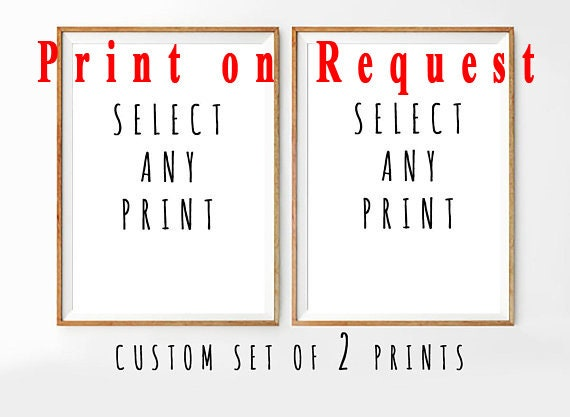 Set of 2 Physical Prints, Print on demand, Wall Art, Set of 2 Wall art, Set of 2, Modern Art, Art Print, Watercolor, Prints
