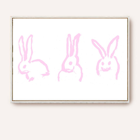 Bunny Print, Nursery Wall Decal, Nursery Art, Baby Room Decor, Wall Art, Nursery Prints, Nursery Decor, Bunny Printable, Minimalist Art