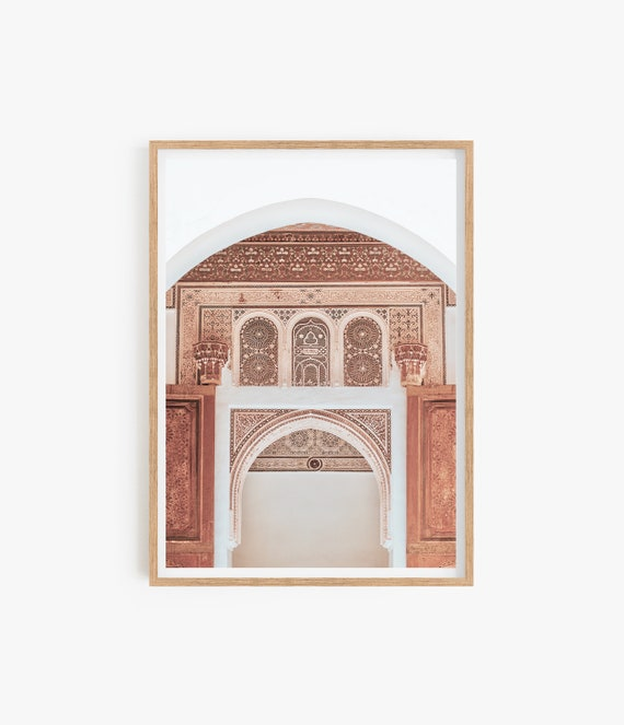 Moroccan Decor, Printable Wall Art, Marrakesh Architecture Photography, Old Building Travel Photo, Instant Download, Large Morocco Arches