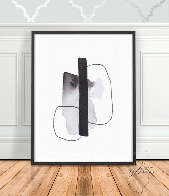Black and White Abstract Art, Abstract Print, Art Prints, Modern Art, Black White Art, Wall Art, Black White Abstract, Digital Download, Art