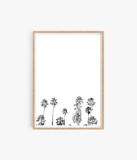 Palm Tree Print Minimalist print Beach Wall art Tropical Living Room Home Decor Tropical decor Coastal Black and White Print Wall art