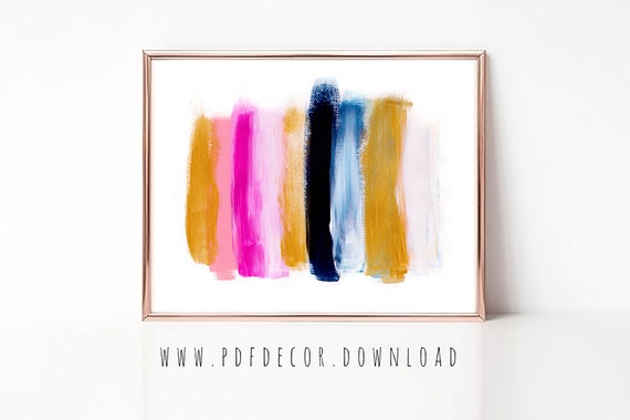 Modern Art, Abstract Print, Brushstroke Art, Contemporary Art, Abstract Wall Art, Home Office Decor, Home Office Art, Digital Download, Art