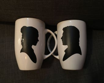 Han and Leia Latte Mug Set