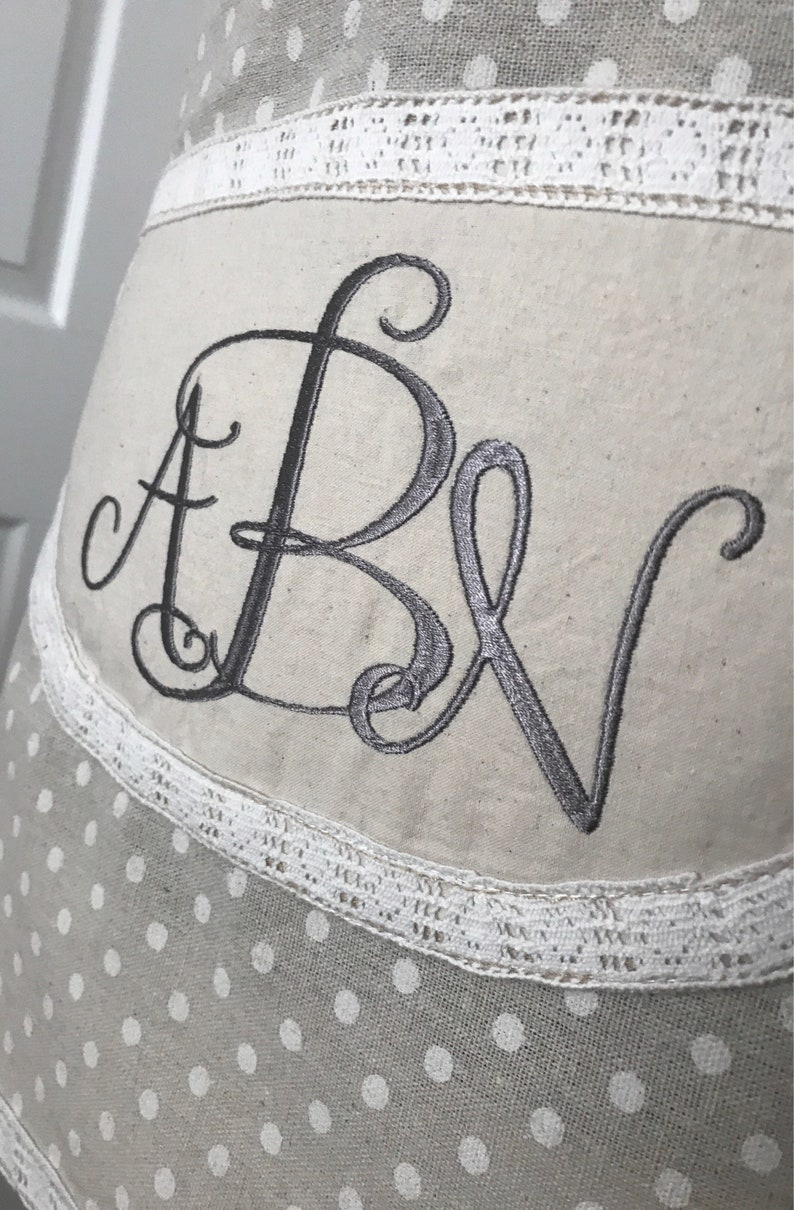 Country apron Personalized Apron Vintage Cottage Apron Shabby Style Rustic Chic Apron Lace Customized Retro Apron Chic Shabby Apron