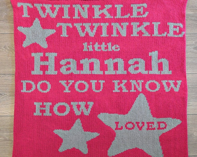 Twinkle Twinkle Little Star Custom Knit Baby & Stroller Blanket