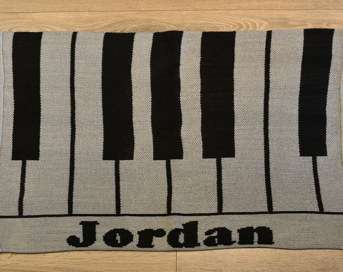 Piano Custom Knit Baby & Stroller Blanket