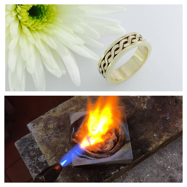 9ct Gold melting service to make a Celtic wedding ring supply image 0