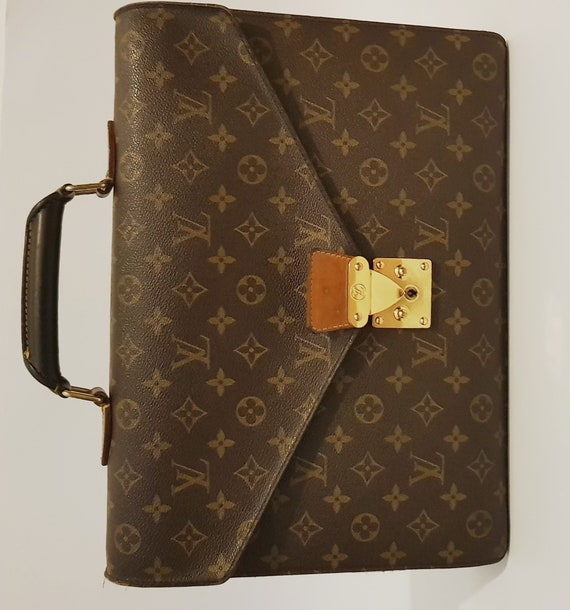 Louis Vuitton Made In France >> Louis Vuitton Made In France Monogram Canvas Serviette Ambassadeur Briefcase Attache Bag