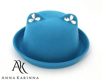 7016416e8ef Cat bowler hat