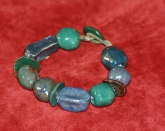 Handmade bracelet made of ceramic elements, easy to apply