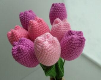 Crochet Tulip Set Etsy