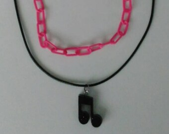 Music Note Layered Necklace