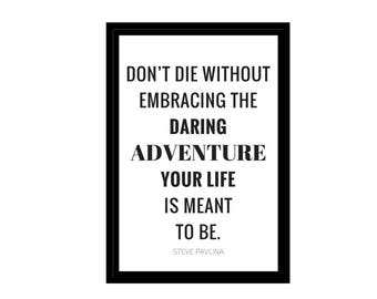 """Life is an Adventure, Minimalist Photo, Travel, Digital Download, Inspirational Quotes, 4x6"""", A1, A2, A3, A4, Canvas File, Adventure Qutoes"""