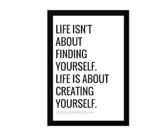 """Life Creation Quote, Minimalist Photo, Digital Download, Inspirational Quotes, 4x6"""", A1, A2, A3, A4, Canvas File, Text & Quote Poster"""