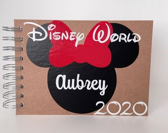 Personalized Disney Autograph Book MICKEY MOUSE Gloves and Shoes  Custom Book Free Personalization 4x6 size!