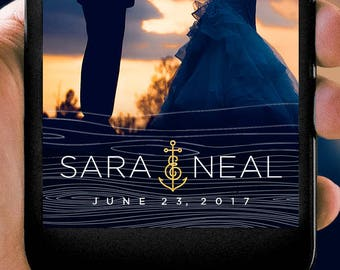 Nautical Anchor Wedding Snapchat Filter