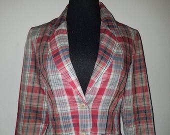 b2fbc378e Vintage Plaid 1970's plaid blazer