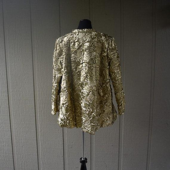 Vintage Gold Pauline Trigere swing coat - image 4