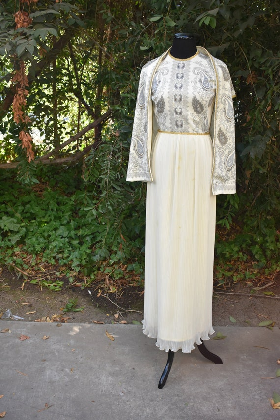 Vintage 1970's Alfred Shaheen - two piece dress an