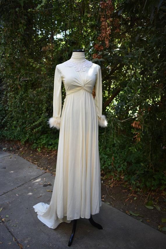Vintage 1970's Wedding Gown